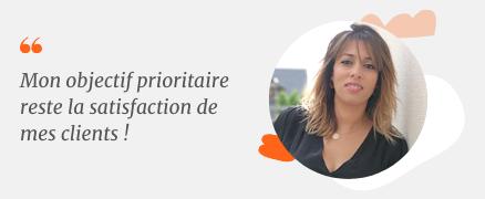photo et verbatim Karima Casani commerciale grands comptes colis IMX France