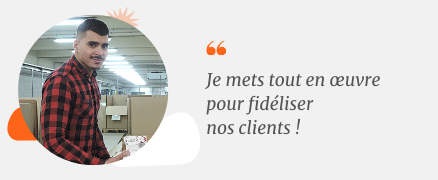 photo et verbatim Sami Bedar commercial middle market colis IMX France